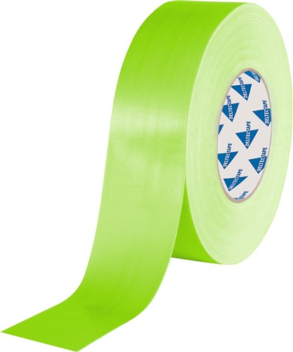 Deltec Gaffertape Fluor Groen 50mm x 25m