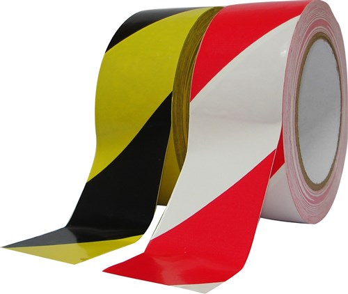 Deltec waarschuwingstape zwart/geel 50mm x 33m