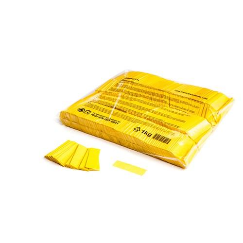 Slowfall confetti rectangles 55x17mm – Geel – 1KG