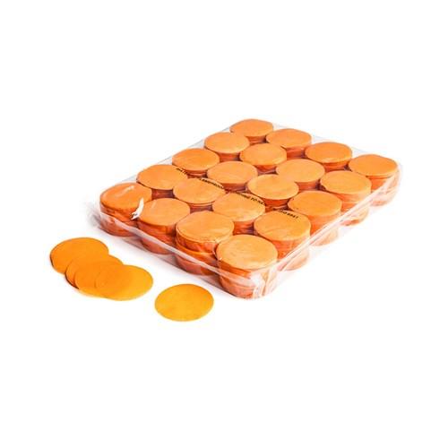 Slowfall confetti rounds Ø 55mm – Oranje – 1KG