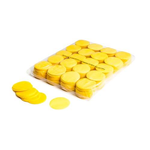 Slowfall confetti rounds Ø 55mm – Geel – 1KG