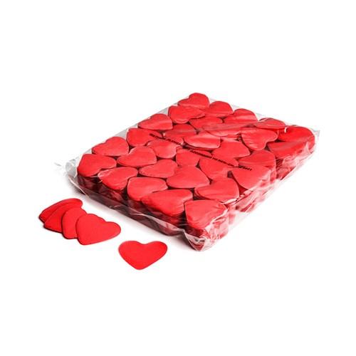 Slowfall confetti hearts Ø 55mm – Rood – 1KG