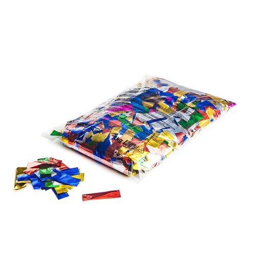 Metallic confetti rectangles 55x17mm – Multikleur