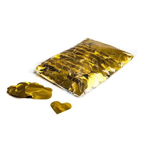 Metallic confetti hearts Ø 55mm – Goud – 1KG
