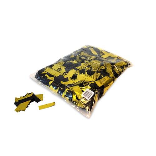 Metallic confetti rectangles 55x17mm – Zwart-Goud – 1KG