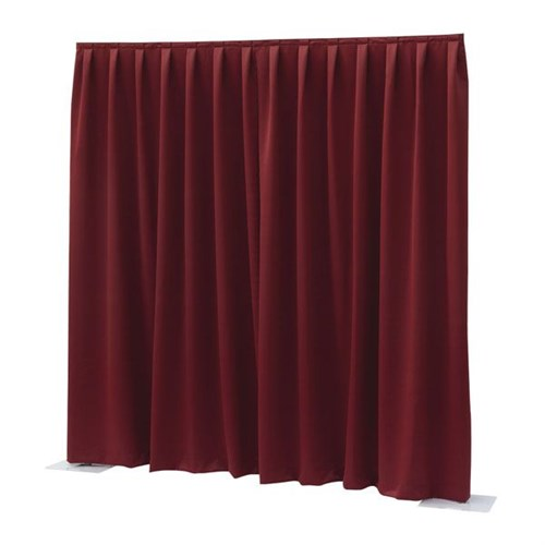Wentex P&D Dimout 300(h)x300cm(w) Pleated, Red