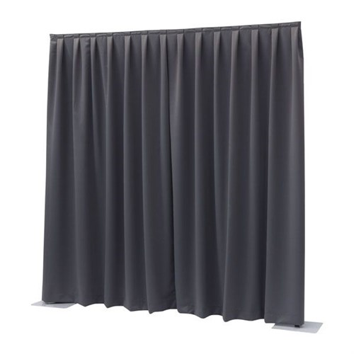 Wentex P&D Dimout 300(h)x300cm(w) Pleated, Dark grey