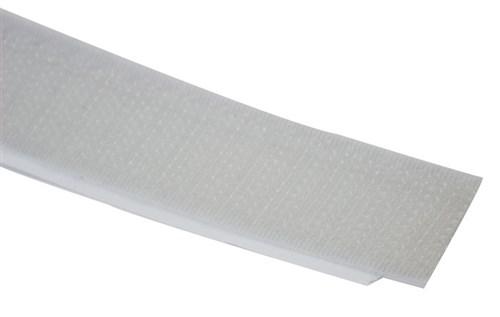 RGB Klittenband haakdeel 25m x 20mm zelfklevend grijs