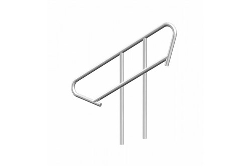 Stair railing for 4-5 steps adjustable stairs