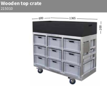 Crate wood for dolly R4 136,5x60x20cm